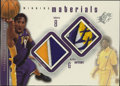 Basketball Collectibles:Others, 2000-01 SPx Winning Materials Kobe Bryant #KB1. This SPx card from 2000-01 has inserts of both a game-worn Kobe jersey swat...