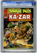 Magazines:Superhero, Savage Tales #6 (Marvel, 1974) CGC NM 9.4 White pages....