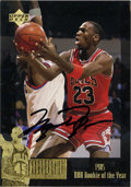 Basketball Collectibles:Others, 1995-96 Signed Upper Deck Jordan Collection Michael Jordan #JC1.From the issue chronicling some of the more illustrious mo...
