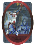 Basketball Collectibles:Others, 1996 SPx Signed Michael Jordan #8. This card from ten years agomarks a time when basketball card manufacturers really bega...