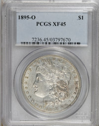 1895-O $1 XF45 PCGS. PCGS Population (517/1347). NGC Census: (502/1519). Mintage: 450,000. Numismedia Wsl. Price for NGC...