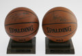 Basketball Collectibles:Balls, Shaquille O'Neal & Chris Webber Signed Basketballs Lot of 2.Offered here are two near-perfect Spalding basketballs, each s...(Total: 2 Items)