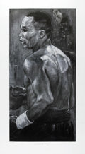 Boxing Collectibles:Autographs, Boxing Greats Signed Lithographs Lot of 3. Marvelous trio oflithographs by Stephen Holland each sports a perfect pencil si...(Total: 3 )