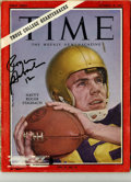 Football Collectibles:Others, Roger Staubach Signed Time Magazine. Featured on the cover of this Time magazine from October 18, 1963 is HOF quarterba...