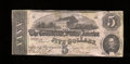 Confederate Notes:1862 Issues, T53 $5 1862. A single pinhole is noticed. Very Fine....