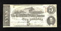 Confederate Notes:1863 Issues, T60 $5 1863. Even circulation adorns this Very Fine $5....
