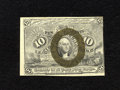 Fractional Currency:Second Issue, Fr. 1244 Milton 2R10.1h 10¢ Second Issue Treasury Rectangle Choice New. Just a small part of the rectangle appears at the up...
