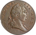 1773 1/2P Virginia Halfpenny, Period MS65 Brown PCGS