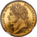 Great Britain, Great Britain: George IV gold Proof 1/2 Sovereign 1821 PR63 Ultra Cameo NGC,...