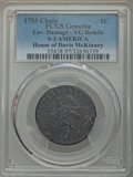 Large Cents, 1793 1C Chain, AMERICA, S-3, B-4, Low R.3 -- Environmental Damage -- PCGS Genuine. VG Details....