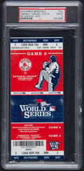 Baseball Collectibles:Tickets, 2013 World Series Game 2 Full Ticket PSA Gem Mint 10....