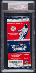 Baseball Collectibles:Tickets, 2013 World Series Game 6 Full Ticket PSA Gem Mint 10 - Red SoxClinching Game!...