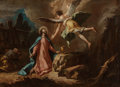 Old Master:Italian, Circle of Gaspare Diziani (Italian, 1689-1767). Agony in theGarden. Oil on canvas. 26-3/8 x 36-1/4 inches (67.1 x 91.9 ...