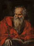 Old Master:Italian, Italian School (17th Century). Saint Paul. Oil on canvas. 39x 28-1/2 inches (99.1 x 72.4 cm). PROPERTY FROM A PRIVATE...