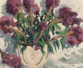 Fine Art - Painting, American:Modern  (1900 1949)  , Carl Thomas Hoppe (American, 1897-1981). Vase of Flowers,1953. Oil on canvas. 18 x 22 inches (45.7 x 55.9 cm). Signed a...