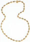 "Luxury Accessories:Accessories, Chanel Brushed Gold Bead Necklace. 30"" Length. Very GoodCondition. ..."