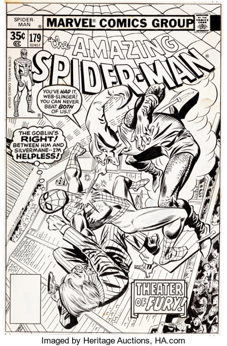 Ross Andru and Mike Esposito Amazing Spider-Man #179 Cover Green Goblin Original Art (Marvel, 1978)....
