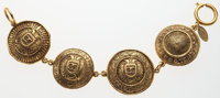"""Chanel Gold Medallion Bracelet Very Good to Excellent Condition 1.25"""" Width x 7.5"""" Length"""