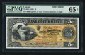 Canadian Currency: , Toronto, ON- The Canadian Bank of Commerce $5 January 2, 1892 Ch. #75-14-04S Specimen. ...