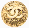"Luxury Accessories:Accessories, Chanel Gold CC Brooch. Excellent Condition. 1.25"" Width x1.25"" Height. ..."