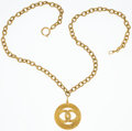 "Luxury Accessories:Accessories, Chanel Gold CC Necklace. Very Good to Excellent Condition.15"" Length. ..."