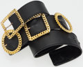 "Luxury Accessories:Accessories, Chanel Black Leather Buckle Belt with Gold Hardware. 1.5"" Widthx 31"" Length. Good to Very Good Condition. ..."