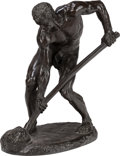 Sculpture, Alfred Boucher (French, 1850-1934). Le Terrassier. Bronze with brownish-grey patina. 27 inches (68.6 cm) high. Inscribed...