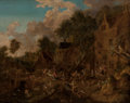 Old Master:Other, Flemish School (17th Century). Brigands Attacking a Village,circa 1680-1700. Oil on canvas. 19-3/4 x 24-3/4 inches (50....