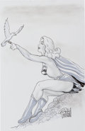 Original Comic Art:Splash Pages, Budd Root and Others - Supergirl Pin-Up Original Art Group of 3(2011-12).... (Total: 3 Original Art)
