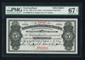 Canadian Currency: , St. John's NF- Newfoundland Government Cash Note $5 1906 Ch. #NF-6fs Specimen. ...