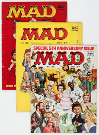 MAD Magazine Group of 5 (EC, 1957-58) Condition: Average VG.... (Total: 5 Comic Books)