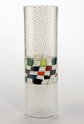 Art Glass:Other , A Richard Marquis Murrina and Filigrana Glass Crazy QuiltBanded Cylinder, 1979. Signed in millefiori 01979 MA...