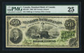 Canadian Currency: , Toronto, ON- The Standard Bank of Canada $50 Dec. 1, 1890 Ch. #695-12-04. ...