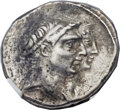 Ancients:Greek, Ancients: SELEUCID KINGDOM. Demetrius I Soter (162-150 BC), withLaodice V. AR tetradrachm (27mm, 16.60 gm, 12h)....