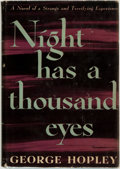 Books:Mystery & Detective Fiction, [Featured Lot]. George Hopley (pseudonym for Cornell Woolrich). Night Has a Thousand Eyes. New York: Farrar & Ri...