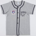 Baseball Collectibles:Uniforms, George Kell Signed Youth Flannel Jersey....