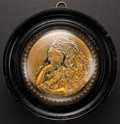 Miscellaneous:Ephemera, Framed glass and brass relief plaque of Queen Victoria, ca. 1897.....