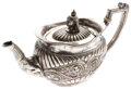 Miscellaneous:Ephemera, Sterling silver Victorian teapot. Unidentified maker's mark, ca.1890.. ...