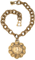 Miscellaneous:Ephemera, Large link, gilt on alloy Queen Victorian Jubilee necklace. 1887.....