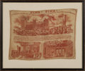 Miscellaneous:Ephemera, Fire! Fire! At Windsor Castle. Destruction of the PrivateApartments of the Queen and Prince Albert. A linen scarf ill...