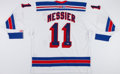 Hockey Collectibles:Uniforms, Mark Messier Signed New York Rangers Jersey....