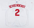Baseball Collectibles:Uniforms, Red Schoendienst Signed St. Louis Cardinals Jersey....