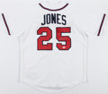Baseball Collectibles:Uniforms, Andruw Jones Signed Atlanta Braves Jersey....