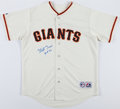 Baseball Collectibles:Balls, Monte Irvin Signed Giants Jersey....