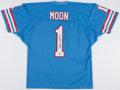 Football Collectibles:Uniforms, Warren Moon Signed Houston Oilers Jersey....