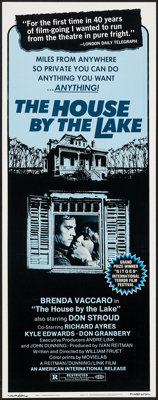 """The House by the Lake (American International, 1976). Insert (14"""" X 36""""). Horror"""