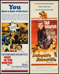 """Movie Posters:War, Lafayette Escadrille & Other Lot (Warner Brothers, 1958).Inserts (2) (14"""" X 36""""). War.. ... (Total: 2 Items)"""
