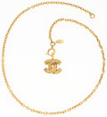 "Luxury Accessories:Accessories, Chanel Gold CC Logo Charm Necklace. 1"" Width x 22"" Length. VeryGood Condition. ..."