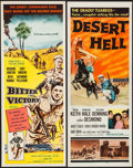 """Movie Posters:War, Bitter Victory & Other Lot (Columbia, 1958). Inserts (2) (14"""" X36""""). War.. ... (Total: 2 Items)"""