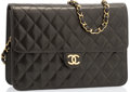 "Luxury Accessories:Bags, Chanel Black Quilted Lambskin Leather Flap Bag with Gold Hardware.Very Good to Excellent Condition. 10"" Width x 7""He..."